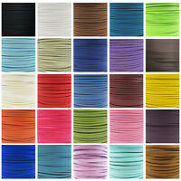 FAUX SUEDE FLAT CORD 3mm 5mm 10mm *47 COLOURS* CRAFTS JEWELLERY MAKING STRINGING