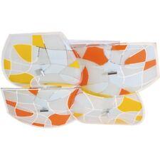 Modern bright ceiling light metal glass white orange colour kitchen 8*60W E27