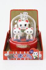 "BRAND NEW JAPANESE SOLAR DOLL / 3 Good Fortune Cats, ""Manekineko-san"" / B166"