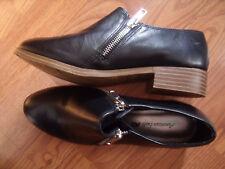 American Eagle Double Metal Zipper Ankle Boot Shootie Shoes Sz 5.5