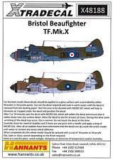 Xtra Decals 1/48 BRISTOL BEAUFIGHTER TF.Mk.X British WWII Bomber