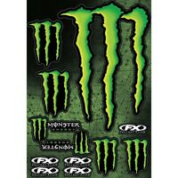 Factory Effex NEW Monster Energy Decals Dirt Bike XL Motocross Sticker Sheet