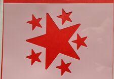 1054 Schablone Sterne Himmel Wandtattoos Möbel Leinwand Textilgestaltung Stencil