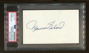 Maurice Richard Signed Index Card 3x5 Autographed Canadians PSA/DNA *1815