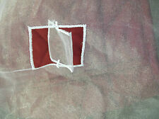 13 M abrir la ventana de guillotina de calidad blanco bordado de gasa pura Cortina De Organza