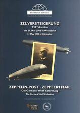 333. Heinrich Köhler-Auktion Mai 2008:  Zeppelin-Post. Gerhard Wolff-Sammlung