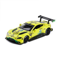 Aston Martin Vantage GTE Racing Car 1:32 Scale Model Car Diecast Gift Yellow