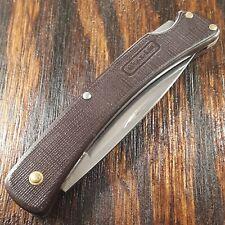 BUCK BUCKLITE KNIFE KNIVES MADE IN USA #424 LOCKBACK PLAIN EDGE POCKET USED