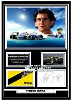 (##54) ayrton senna  f1 signed a4 photo/mounted/framed (reprint) ########