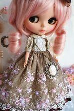 [PF] 89# Pretty Handmade Lolita Brown Long Dress For Blythe Pullip Doll
