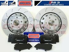FOR AUDI RS3 8P 2011-2012 FRONT DRILLED BRAKE DISCS PADS SET 370mm 8P0615301C