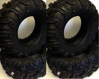 Set of 4 Sedona Mud Rebel 25x8-12 Front 25x10-12 Rear ATV Tires 25 8 12 25 10 12