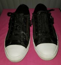 Coach Empire Zip Lace-Up Sneakers Black 10 M Leather