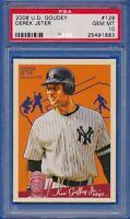 2008 UD Goudey #129 Derek Jeter New York Yankees HOF PSA 10 GEM MINT
