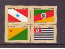 Brazil MNH 1985  State Flags  set mint stamps