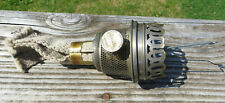 Vintage Aladdin Model 11 Oil Lamp Burner - London - Nickel Plated