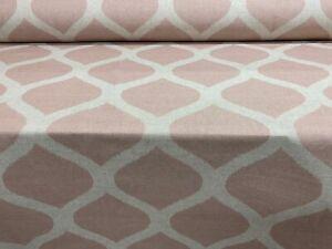 Hall Ikat  Blush Pink Linen/Cotton  140cm wide Curtain/Craft Fabric