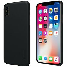 Genuine Original Nillkin Frosted Shield Black Hard Case Cover for iPhone X