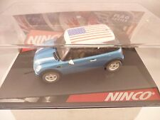 "NINCO 1/32 SLOT CAR #50302 MINI COOPER ""STARS&STRIPES"""