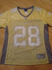 NFL MINNESOTA VIKINGS PETERSON #28 WOMEN'S GRAY & YELLOW JERSEY SIZE SMALL EUC