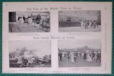 1900 BOER WAR BRITISH FLEET TO TRIESTE ~ ETON VS HARROW AT LORD'S LORD ROSEBERY