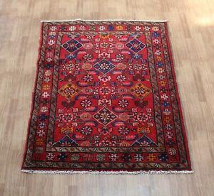 Traditional Vintage Wool Handmade Classic Oriental Areas Rug Carpet 134X 100 cm