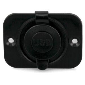 Marinco Boat Dual USB Panel 12VDUSB-B   12V Black