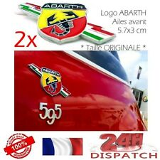 2x Logo metal ABARTH AILES AVANT Fender 5,7x3cm FIAT 500 PUNTO2x Logo metal ABAR