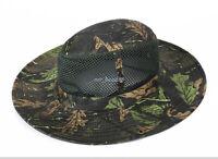 Outdoor Hunting Fishing Bucket Hat Wide Brim Boonie Sun Camo Military Cap Unisex