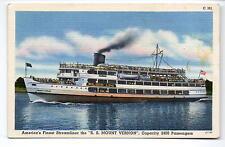 Wilson Line S.S. Mount Vernon Capitol Souvenir Co. Postcard 1930s