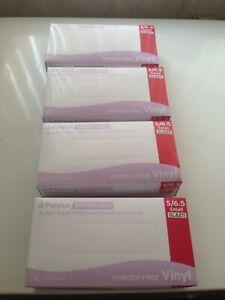Clear Vinyl Medical Examination Gloves,,