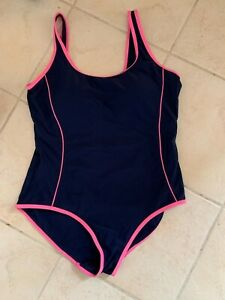 Matalan Padded Cup Control Swimsuit Size 18 Swimming Costume Blue Pink