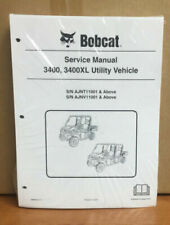 Bobcat 3400, 3400XL Utility Vehicle Service Manual Shop Repair Book 1 # 6989602