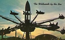 Vintage Postcard Wildwoods By The Sea NJ Hunt's Pier Riding the Satellite Jets