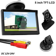 "Car Rear View Monitor 5"" inch TFT LCD For Backup Camera Reverse Parking System"