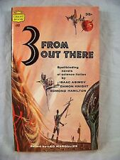 3 FROM OUT THERE ISAAC ASIMOV CREST S282  1959 FIRST EDITION SCI FI