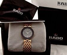 NEW MEN'S RADO FLORENCE WATCH R48677713 GOLD TONE BLACK DIAL  NEW IN A BOX.
