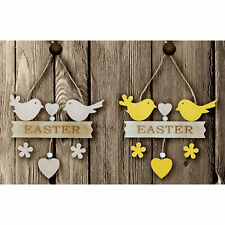 Easter Room Decorations, Banners, Garlands - Set 2 Wooden Chick Signs