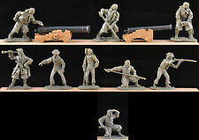 Barzso Pirate Gun Crew - 4 toy soldiers & 2 Cannon  - 54mm - figure poses vary