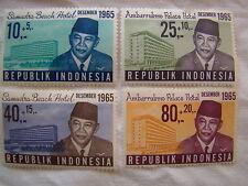 Indonesia Stamp Set 1965 Scott B187 - B190 SP68 Mint MNH Hotels