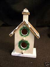 #B0102 - INDOOR DECORATIVE HOLIDAY BIRDHOUSE WITH WREATH TREE HAND-PAINTED -WOW!