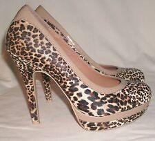 Baby Phat spike heels sz 7 M Chance animal print platform