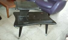 Vintage Gordon's Fine Furniture Inc. Two Tiered Solid Walnut End Table