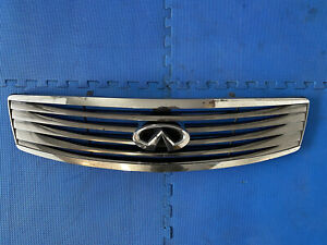 2007 2008 INFINITY G25 G37 Used Front Bumper Grill Chrome Emblem SEDAN 4 Door