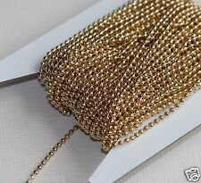 32ft of gold plated smooth ball chain 1.5mm ball chain