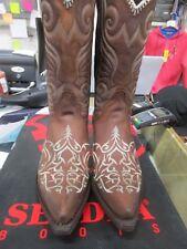 Stivali Sendra (Spagna) taglia 46 marrone finemente ricamato beige