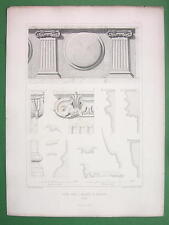 ARCHITECTURE PRINT : Italy Perugia Details from Arch of Augustus