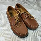 MEPHISTO SPINNAKER Men's US 8 Brown Leather Cool-Air Boat Dock Loafers Shoes