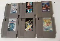 Nintendo NES 6 Game Lot Authentic Tested & Working!