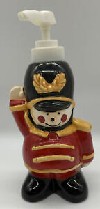 """Ceramic 7"""" Toy Soldier Soap or Hand Lotion Dispenser Christmas Kitchen Decor"""